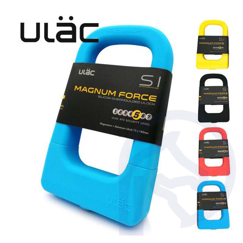 ULAC Silicone U-shaped Bicycle Lock MTB Road Mountain Bike Lock Anti-theft Motorcycle Security Electric Bicycle 3 Keys U-lock цена