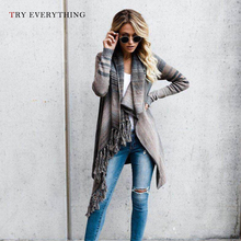Cardigan Women Long Striped Winter Woman 2019 With Buttons Cardigans Female Tassel