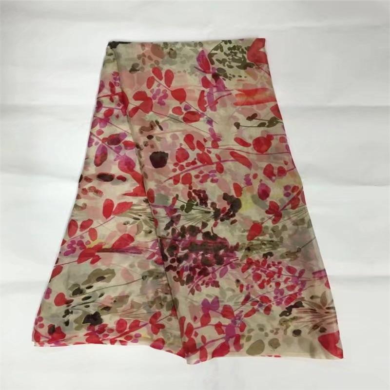 New Desig 100% pure natural mulberry silk chiffon fabric 5 yards ! P90726