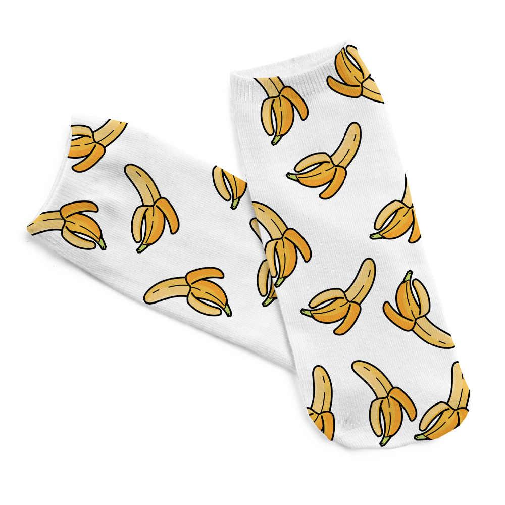 DA CORSA PULCINO banana 3d digitale stampata giallo calze di cotone
