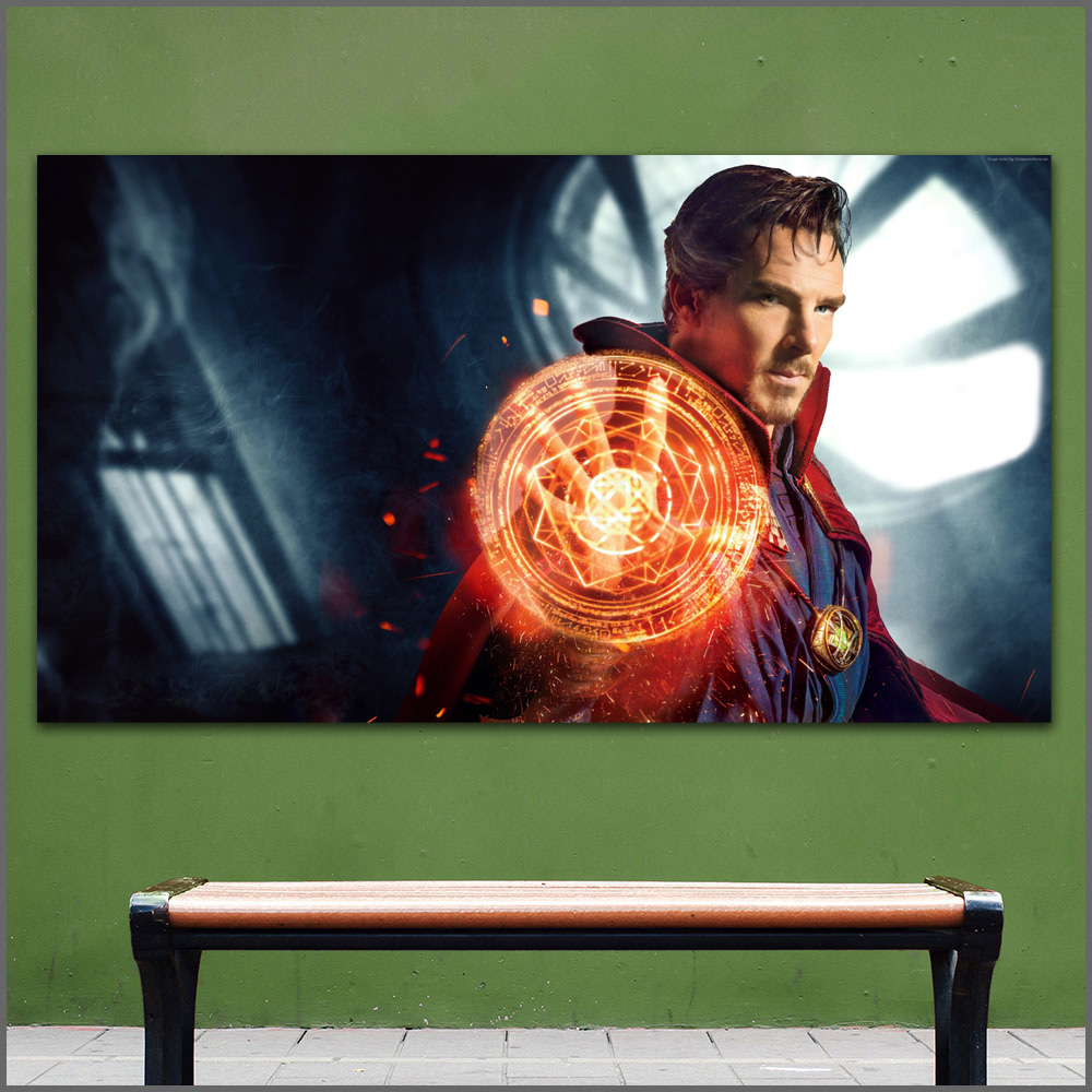 Large Size Oil Painting Magical Doctor Strange Mage Wall Art Canvas Prints Pictures For Living Room And Bedroom No Frames WLONG