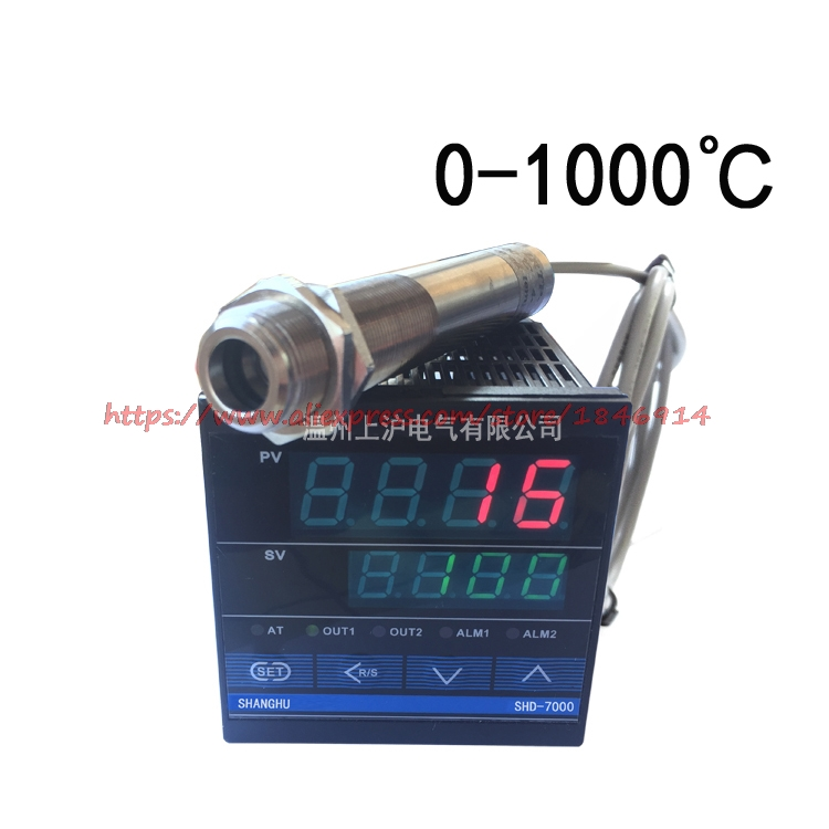 Free shipping 0-1000 degree of non contact Infrared temperature sensor probe with temperature control tableFree shipping 0-1000 degree of non contact Infrared temperature sensor probe with temperature control table