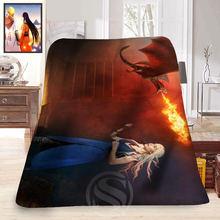 Juego de Tronos de encargo #6 Manta de Lana Suave Decoración Dormitorio T #829 & th145