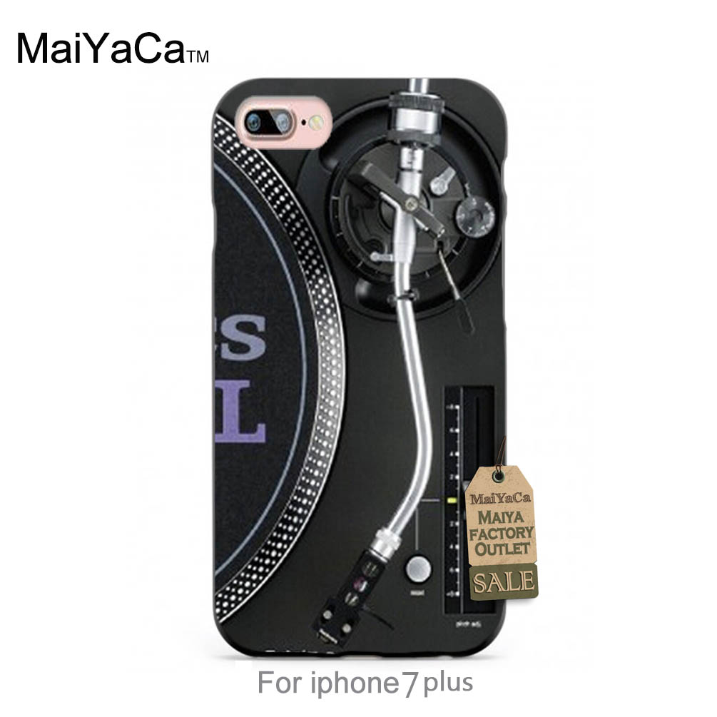 MaiYaCa Silicone case Technics 1210s Turntables DJ Luxury High-end phone Accessories For case 6 6plus 7 7plus