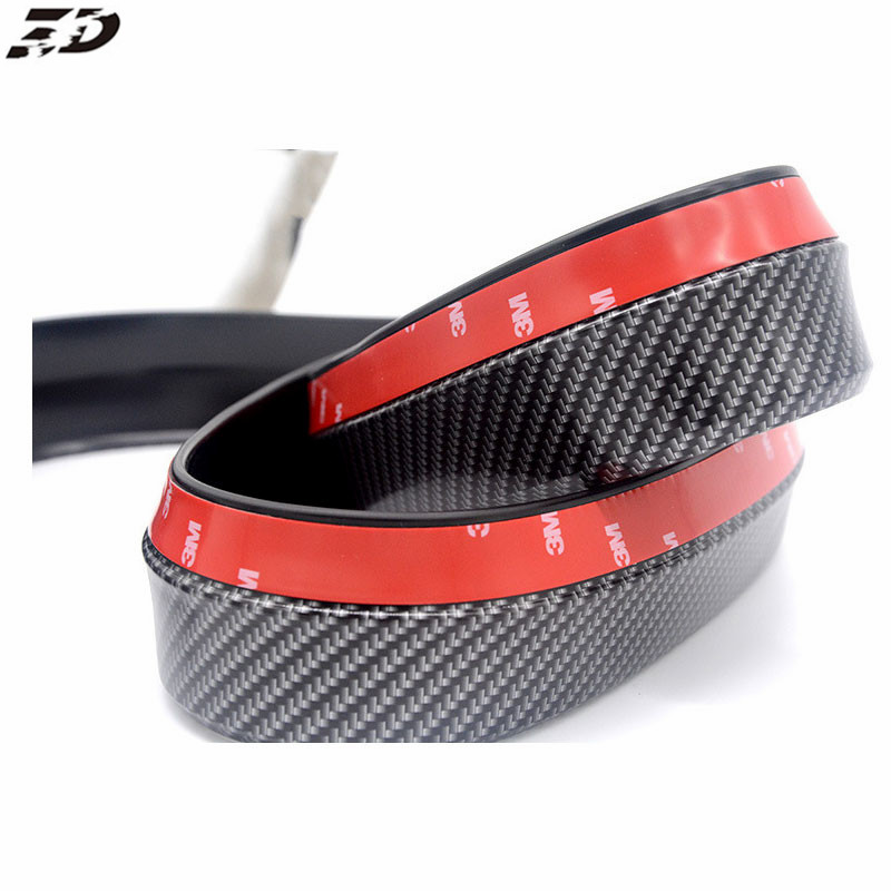 Carbon Fiber Car-Styling Strips Mouldings Wrap Protector Front Bumper Scratches Guard Lip Rubber Clips For BMW E39 E60 E36 F30 epr car styling for nissan z33 350z nismo carbon fiber front bumper duct air intake
