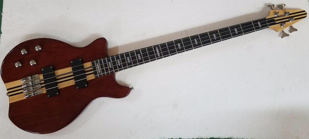 top quality custom 4 strings electric bass guitars maple body active wire bass chrome,left handed electric guitar.