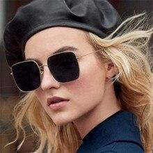 f4297b7e33 Nouvelle Marque Designer Celebrity Métal Hommes Surdimensionné lunettes de  Soleil De Mode De Luxe Carré lunettes de Soleil Femme.