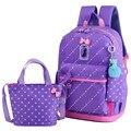 3 шт./компл.  новые школьные сумки  рюкзак для девочек  водонепроницаемый рюкзак  детская школьная сумка для девочек  сумки через плечо  подар...