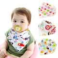 High quality Baby bib cartoon Star owl stripe dog Bear Mouse pattern Mom Care Brand Newborn Baby Bandana Babador bib Burp Cloths