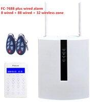 Фокус FC 7688 плюс IP TCP безопасности GSM сигнализация 96 проводной интеллектуальная система сигнализации с WebIE Управление в любом месте
