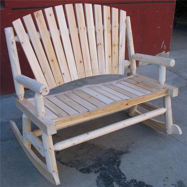 Free Shipping Outdoor Furniture Wood Folding Beach Camping Double Arm Rocking  Chair Bench Rocker 2
