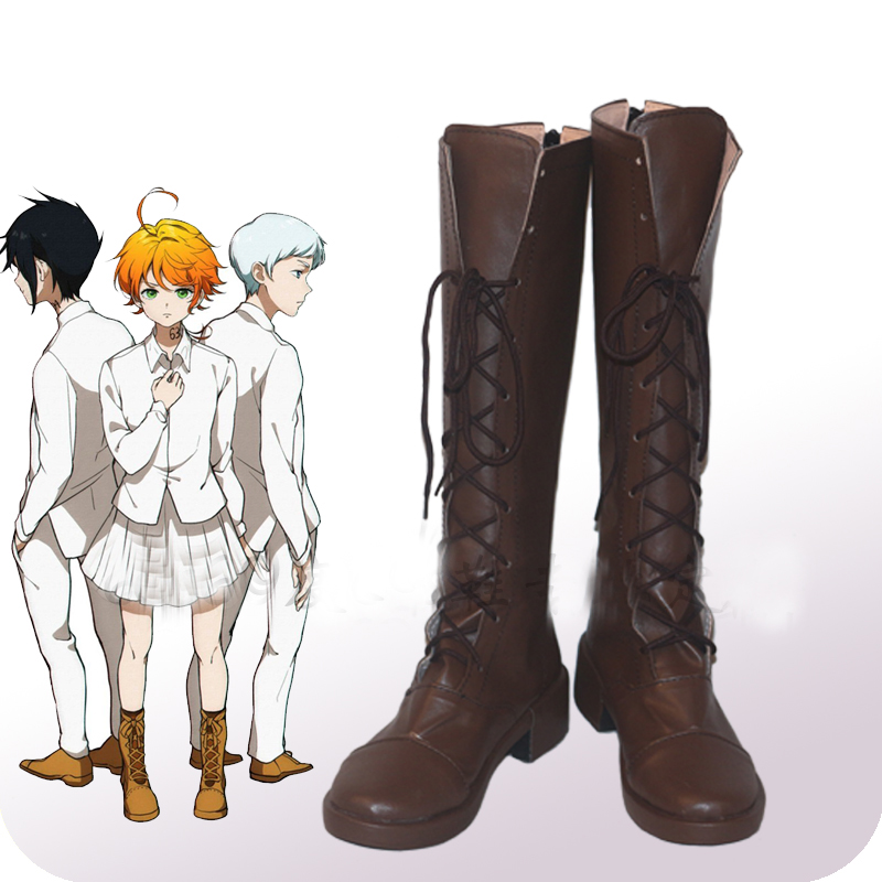 The Promised Neverland Emma Cosplay Shoes Boots Yokusoku no Neverland Adult Halloween Carnival Cosplay Costume Accessories