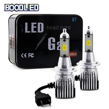 2pcs H4 H7 LED Car Headlight Bulbs H11 H1 H3 9005 9006 LED COB Chip Hi-Lo Beam 6500K Auto Headlamp Fog Light G20 Bulb DC 12V-24V new 4 side 10000 lumens h7 led cob 100w h4 hi lo h11 9005 9006 car led headlight bulbs auto led headlamp led car light 12v 24v