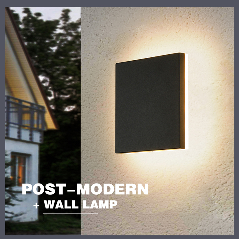 Impermeável ao ar livre iluminação moderna luz de parede ao ar livre lâmpada led pátio exterior arandela passarela varanda jardim luz parede ip54