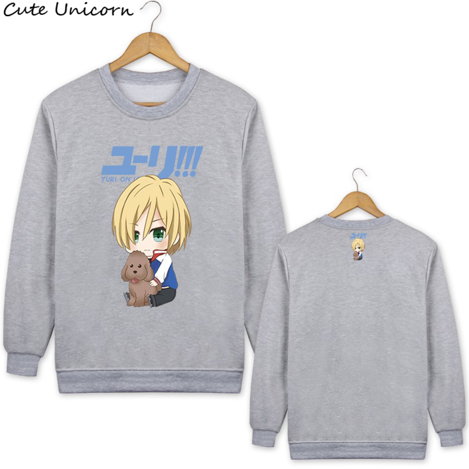 Spring Autumn Yuri on Ice Love Live VOCALOID Hoodies Pullovers long sleeve Sweater casual Blouse Shirts women hoodie sweatshirt