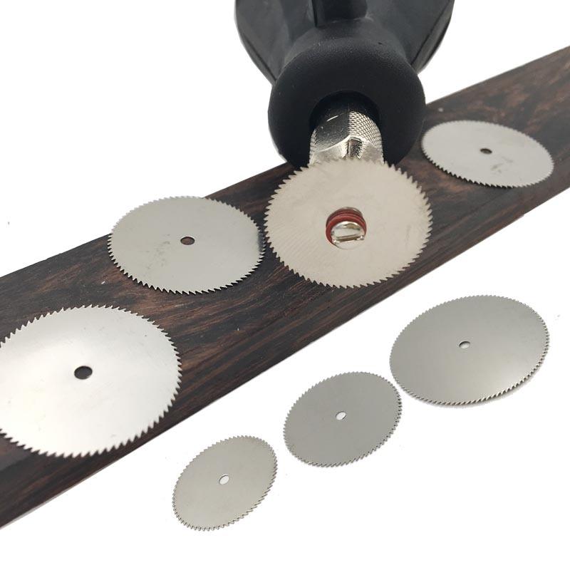 10ピース丸鋸刃切削工具木工工具カットオフ鋼切削ディスクDremelアクセサリーロータリーツール