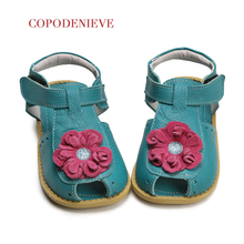 COPODENIEVE Summer Beach Boy Sandals Kids Genuine Leather Shoes Fashion Sport Sandal Children Sandals Boys Leather Casual Shoes цена