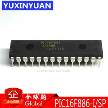 10PCS/LOT PIC16F886-I/SP PIC16F886-I PIC16F886 DIP28 New Products  28/40/44-Pin  Flash-Based 8-Bit CMOS Microcontrollers w DIP28 - DISCOUNT ITEM  5% OFF All Category