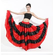 new Hot Sale New Discount Spanish Bullfight Belly Dance Dress Skirt Long Flamenco Skirts Red Dresses For Girls