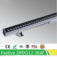 Comparar 10 unids lote 36W DMX512 RGB Wash LED de pared ac85 265v o AC24V al aire