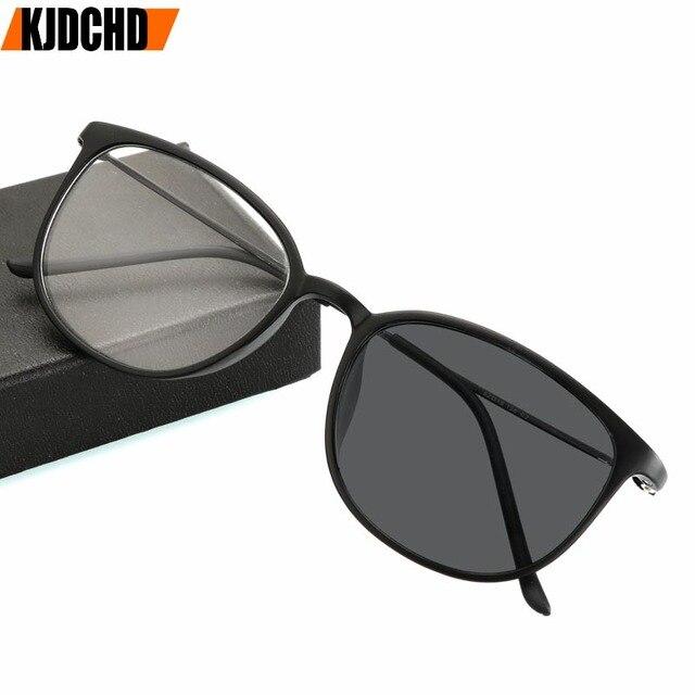 1.0to 4.0 الشمس فوتوكروميك الانتهاء قصر النظر النظارات مع درجة العين البصرية إطارات النظارات للنساء الرجال النظارات درجة كوة