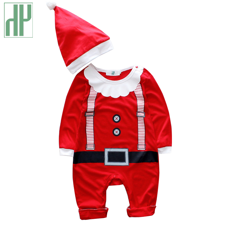HH christmas Baby rompers costumes for boys santa claus baby outfits baby girl clothes newborn new year jumpsuit wear overalls sr039 newborn baby clothes bebe baby girls and boys clothes christmas red and white party dress hat santa claus hat sliders