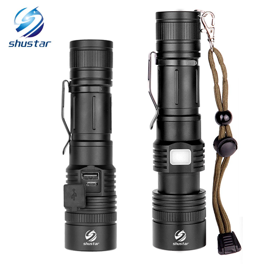 Powerful XHP50 LED Flashlight Support Zoom 5 Lighting Modes Torch By 18650 Or 26650 Battery For Outdoor Activities