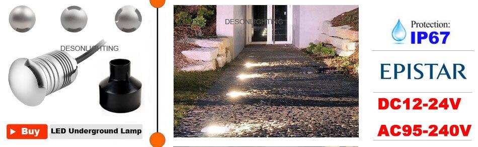 ip65 impermeável footlight recesso lâmpada da escada