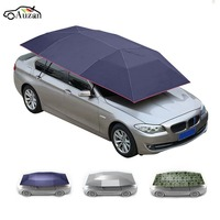 Roof Car Umbrella Shade Sunshade Insulation Cover Semi automatic Anti theft Portable 400x210cm Covers