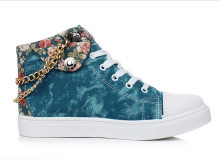 2016 Spring New Collection Flowers font b Women b font Flat Platforms Fashion Casual Jogging Shoes