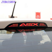 Hot Selling carbon fiber brake lamp decoration cover tags case for MITSUBISHI asx 2011 2012 2013 2014 2015 car accessories(China)