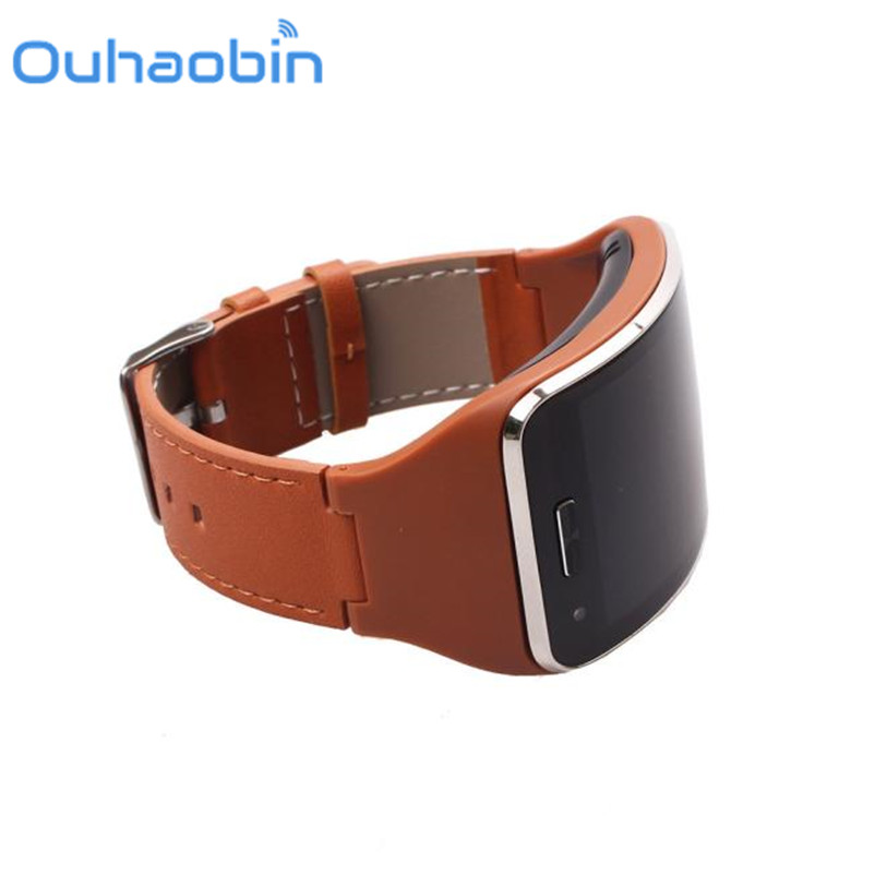 Ouhaobin 14.5-21cm Genuine leather Watch Wrist Strap Band For Samsung Gear S SM-R750 Smart Sep 29 Dropship/Wholesale