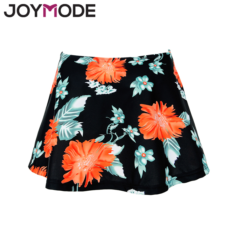 JOYMODE 2017 New Bikinis Swim Skirt Plus Size 3XL Beach Suit Print Floral Swim Dress Women Swim Bottom Dress With Briefs -D lining splicing floral print casual wide hem organza midi skirt for women