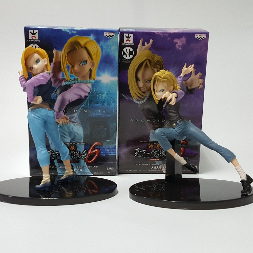 Dragon Ball Z Action Figure Android 18 Lazuli PVC Figure 180MM Dragon Ball SC Lazuli Model Toy DBZ Esferas Del Dragon DB03 ...