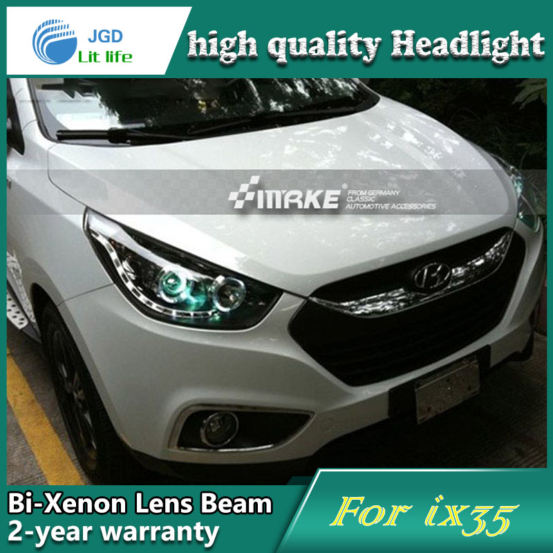 high quality Car styling case for Hyundai ix35 2010-2013 Headlights LED Headlight DRL Lens Double Beam HID Xenon Car Accessories hireno headlamp for 2004 10 hyundai elantra headlight headlight assembly led drl angel lens double beam hid xenon 2pcs