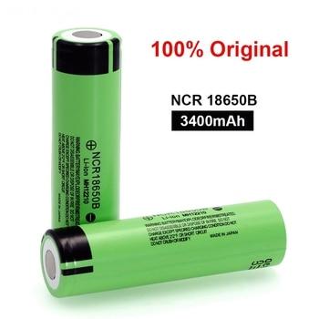 100% Original NCR18650B 18650 Battery 3.7v 3400mah for Panasonic 18650 Lithium Rechargeable Battery For Flashlight batteries free shipping brand new 10pcs lot 100% genuine panasonics ncr18650b 3 6v 3400mah li ion rechargeable battery for led lights