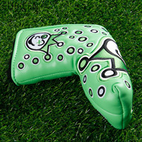 GREEN 1Pc PU Leather Golf Putter Cover Protect Headcover Head Cover Golf Blade Cover Golf Club