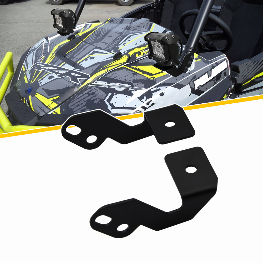 US $14 99 |A Pillar LED Work Light Pod Cube Mount Brackets Fit Polaris RZR  XP 1000 900 Turbo-in ATV Parts & Accessories from Automobiles & Motorcycles