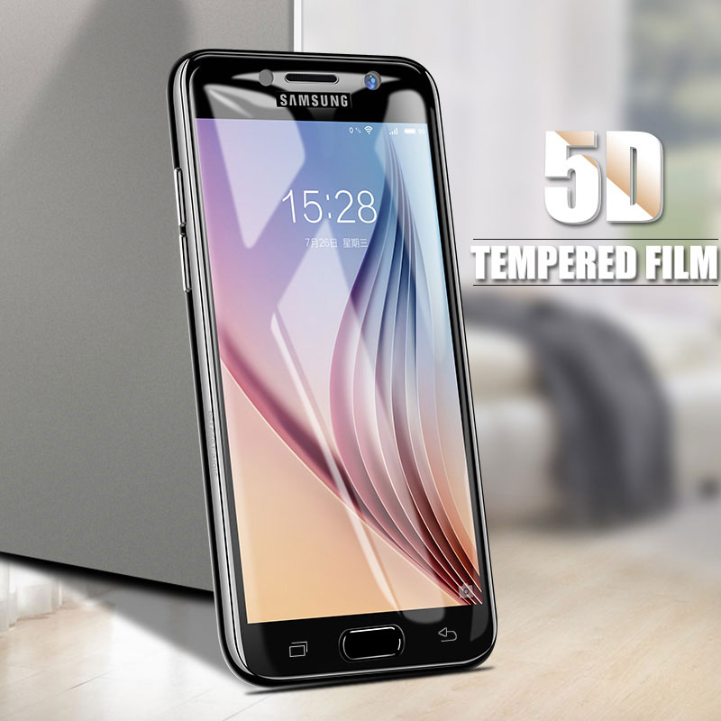A6 plus 2018 5D Curved Tempered Glass Screen Protector Case For Samsung Galaxy A8 plus 2018 A3 A5 A7 2017 A320 A520 Film Cover ...