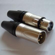 Высокое качество 300 шт./лот xlr разъем аудио разъем микрофона с NC3MXX& NC3FXX 3pin позолоченный синий цвет