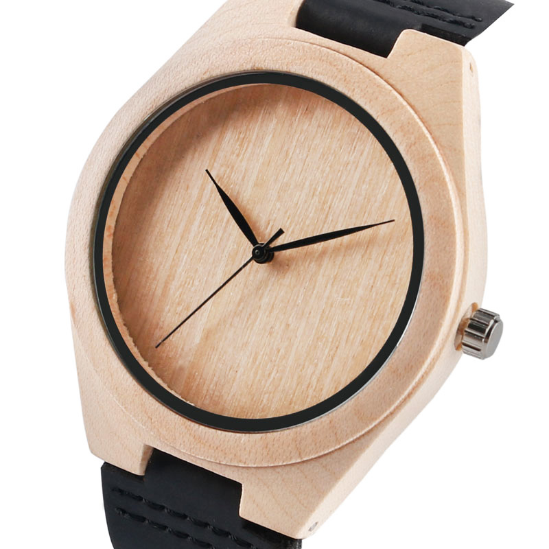 2017 Pure Face Design Wooden Watch for Man Women Novel 100% Nature Wood Analog Bangle Bamboo Sport Luxury Quartz Wristwatches 2017 pure face design wooden watch for