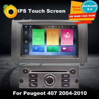 4G RAM Android8.0 автомобильный DVD gps мультимедийный плеер для peugeot 407 2004 2005 2006 2007 2008 2009 2010 Авто радионавигации стерео