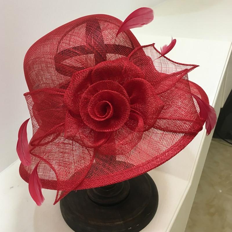 Printemps été mode Fedoras chapeau élégant britannique lin Royal Ascot chapeaux femmes extérieur parasol dames jour visière fille casquette H6627