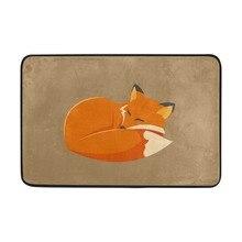 Красивая Спящая лиса ковер 40*60 см вход Крытый нескользящий пол коврик для ванной комнаты