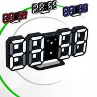 Eaagd 3 Colors Alternate LED Digital 8888 Alarm Clock With USB Charging 3D Digits Snooze For