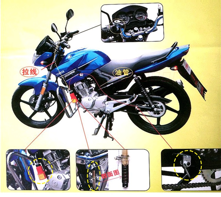 Professional Motorcycle Pit Dirt Bike Auto Hand Control Lube