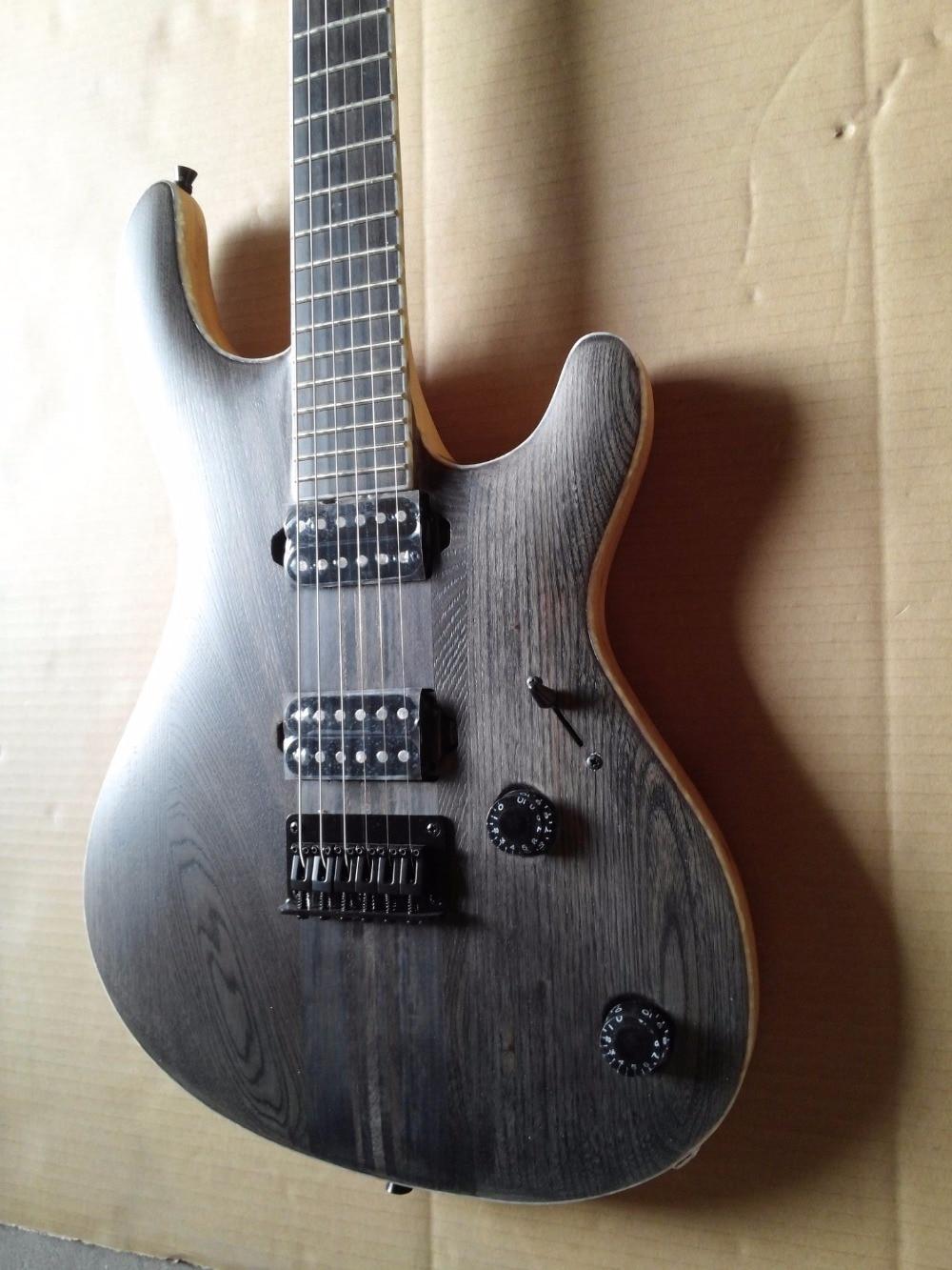 Good Quality  Mayones Regius 6 String Electric Guitar Neck Thru Body ASH Wood Body