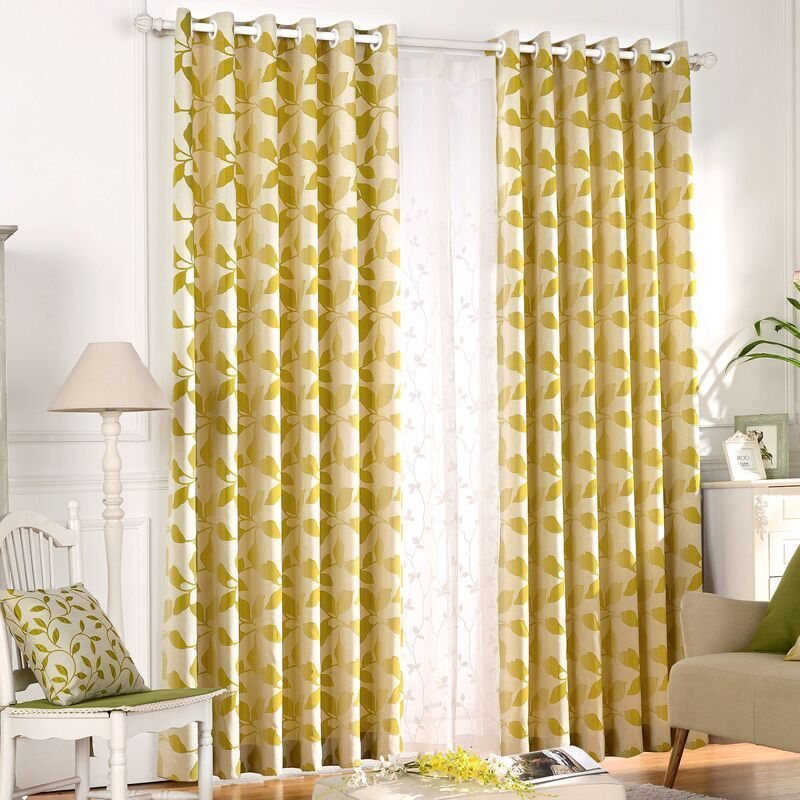 jacquard curtains bedroom blackout fabric drapes country long curtains embroidered voile curtains decor country shade partition