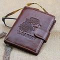 Men Wallets 100%  Genuine Leather Wallet Men Card Holder With Coin Pocket Short Vintage  Wallets Purse Coin Pocket Male Zipper