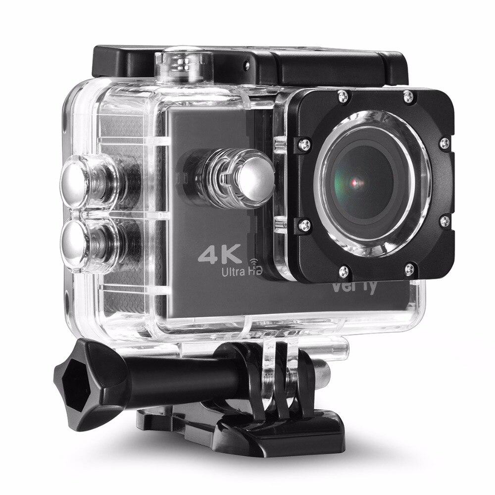 VeFly 2.0 pouces Écran Wifi 1080 P 4 K Étanche Action Sports Caméra, noir portable 16MP Sport Cam Go Pro Accessoires case set - 4